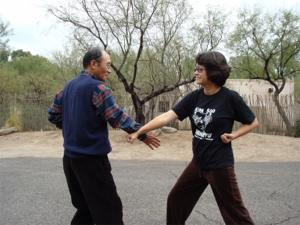Grandmaster Kim and Master Hwang